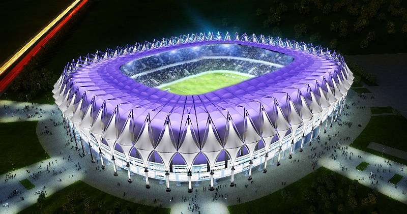 Bunyodkor Stadium Griven Usa Led Architectural Lighting